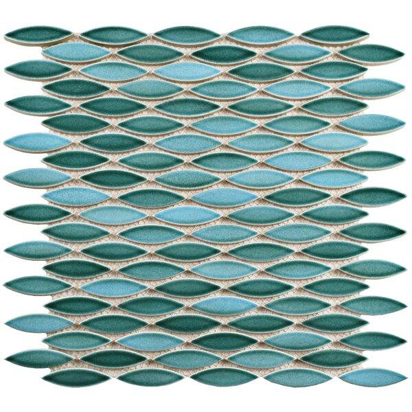 Paissan 0.69 x 2.44 Ceramic Mosaic Tile in Teal/Aqua by EliteTile