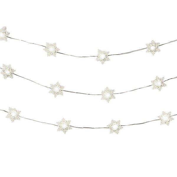 LED 10 Light String Lights with TImer by The Holiday Aisle