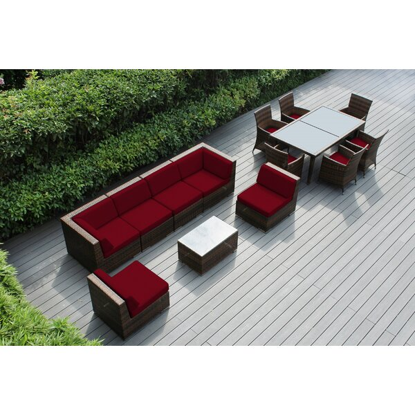 Alianna 14 Piece Complete Patio Set with Cushions by Orren Ellis