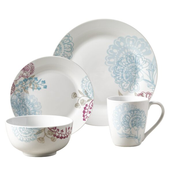 Adele 16 Piece Dinnerware Set, Service for 4 by Winston Porter
