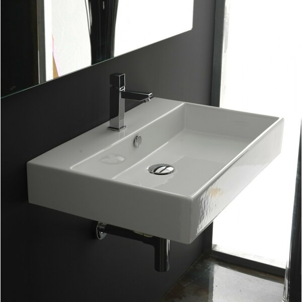 Ceramica II Unlimited Ceramic Rectangular Vessel Bathroom Sink with Overflow by WS Bath Collections