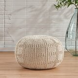 Guion 20 Cotton Round Pouf by Mistana
