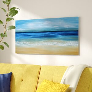 'Warm Tropical Sea and Beach' Oil Painting Print on Canvas by East Urban Home