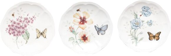 Butterfly Meadow Salad or dessert plate Set (Set of 6) by Lenox