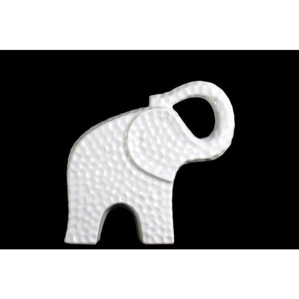 Beufort Edged Trumpeting Standing Elephant Figurine by World Menagerie