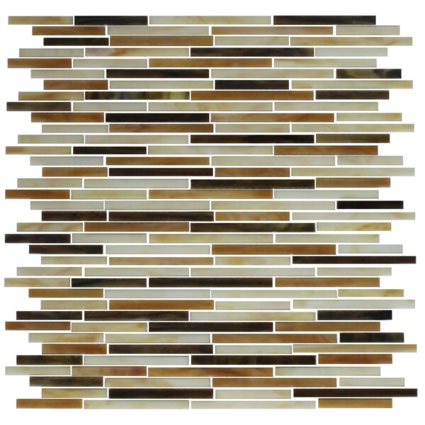 STIX Stained Random Sized Glass Mosaic Tile in Brown/Tan by Susan Jablon