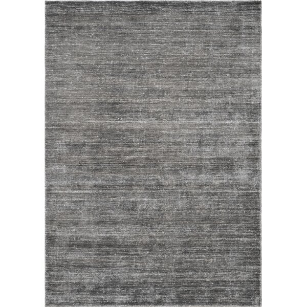 One-of-a-Kind Quality Hand-Knotted Wool Gray Indoor Area Rug by Mansour