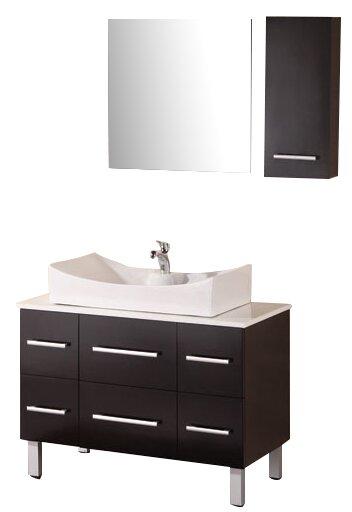 Vivaan 36 Single Bathroom Vanity Set with Mirror by Home Loft ConceptsVivaan 36 Single Bathroom Vanity Set with Mirror by Home Loft Concepts