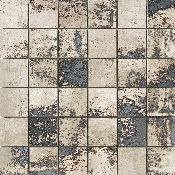 Chemistry 2 x 2 Porcelain Metal Look Tile in Brown by Emser Tile
