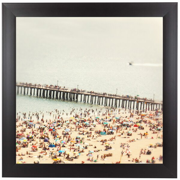 Coney Island Summer Framed Photographic Print by East Urban Home