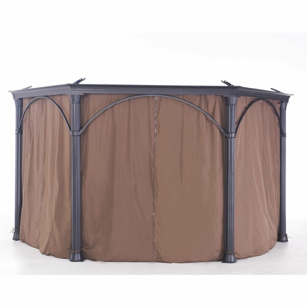 Universal Curtain for Round Gazebo by Sunjoy