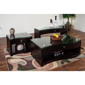 Attractive Espresso Coffee Table Set