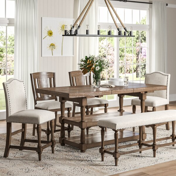 Fortunat 6 Piece Extendable Dining Set by Laurel Foundry Modern Farmhouse Laurel Foundry Modern Farmhouse