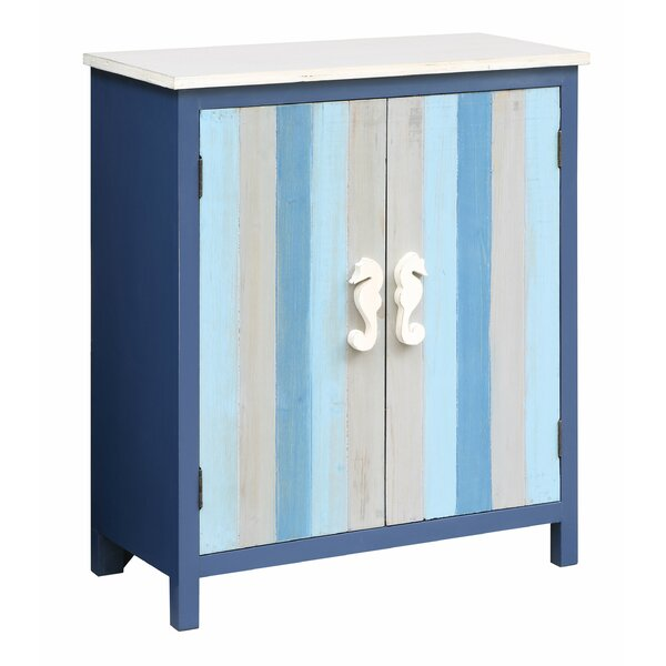 Review Harriss Nautical Striped 2 Door Accent Cabinet