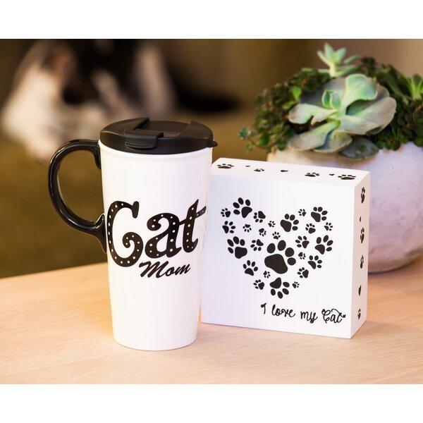 Belote Cat Mom Travel Mug by Winston Porter
