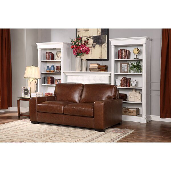 Armstrong Leather Loveseat by Charlton Home