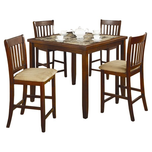 Duplessis 5 Piece Counter Height Dining Set by Red Barrel Studio