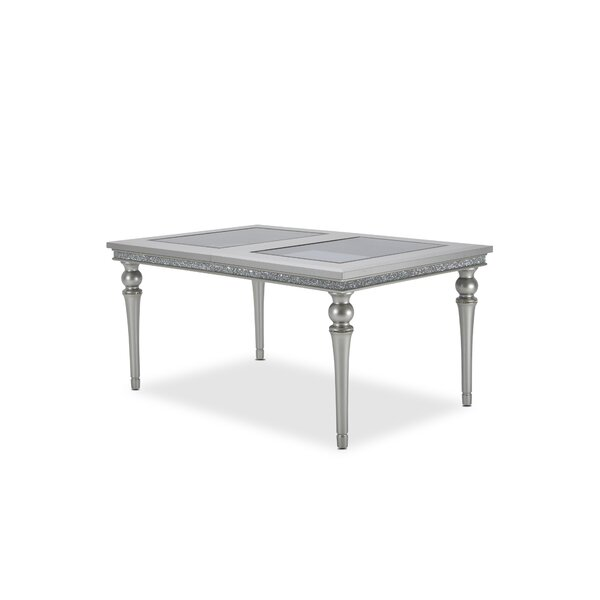 Melrose Plaza Upholstered Extendable Dining Table by Michael Amini