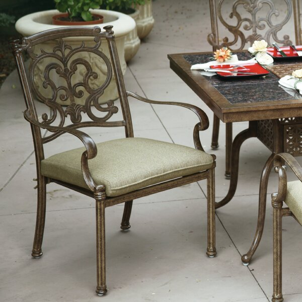 Bergen Stacking Patio Dining Chair with Cushion by Astoria Grand