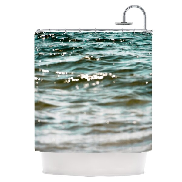 Turquoise Blue Shower Curtain by East Urban Home