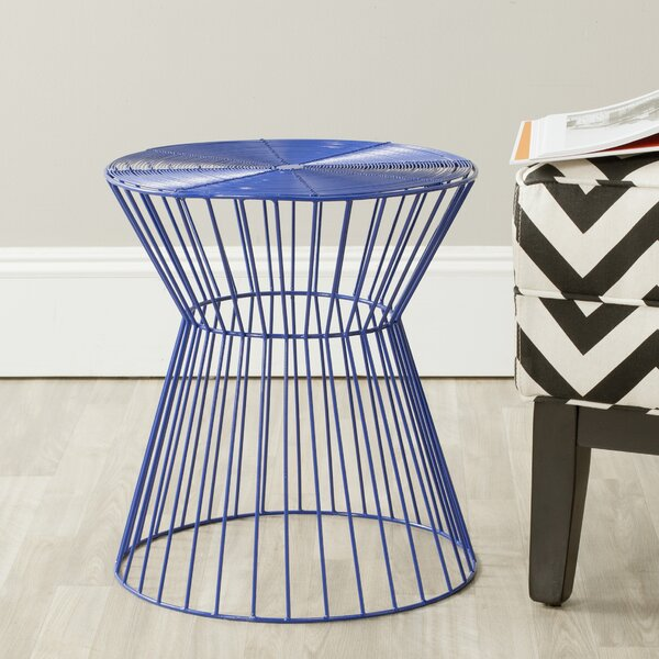 Coover Iron Wire Stool by Mercury Row