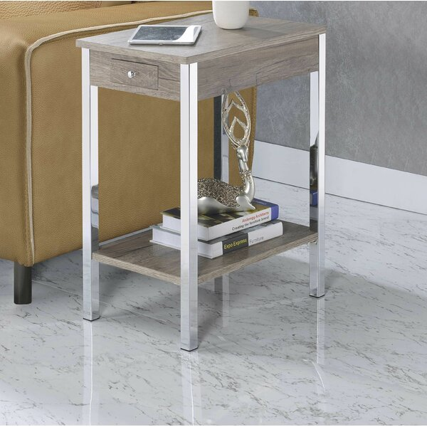 Riley-James End Table With Storage By Ebern Designs