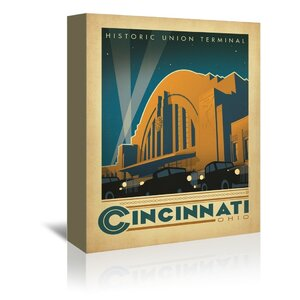 Cincinnati Vintage Advertisement on Wrapped Canvas by East Urban Home