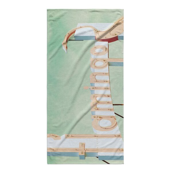 Teisha Flamingo Beach Towel by Bayou Breeze