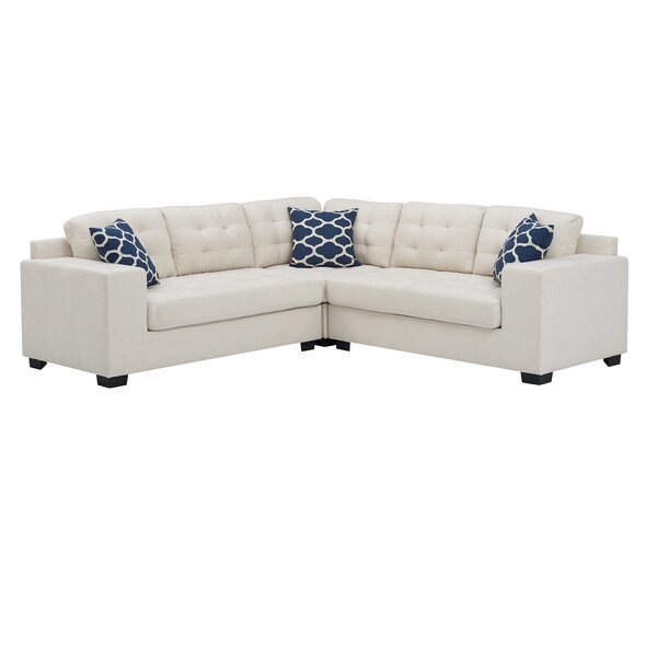 Best #1 Barrister Sectional By Ebern Designs Spacial Price