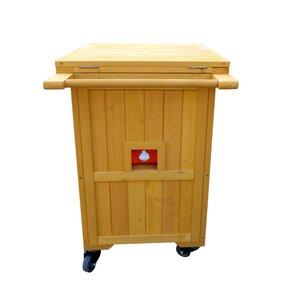 Alisanne Wooden Cooler-Warmer Bar Cart by Freeport Park