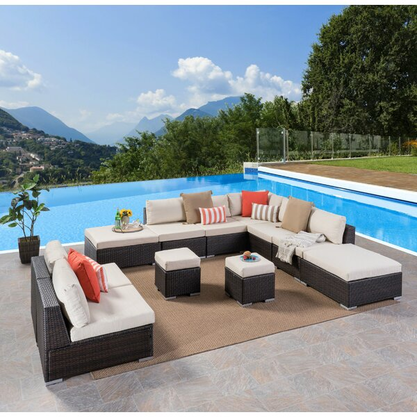 Cabral 11 Piece Sectional Seating Group with Cushions by Sol 72 Outdoor