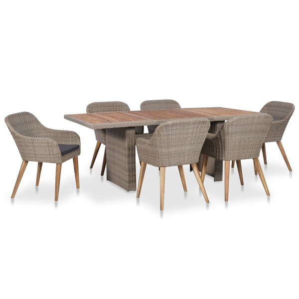 Ryanne 7 Piece Dining Set with Cushions by Wrought Studio