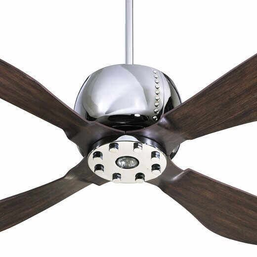 52 Elica 4-Blade Ceiling Fan with Remote by Quorum