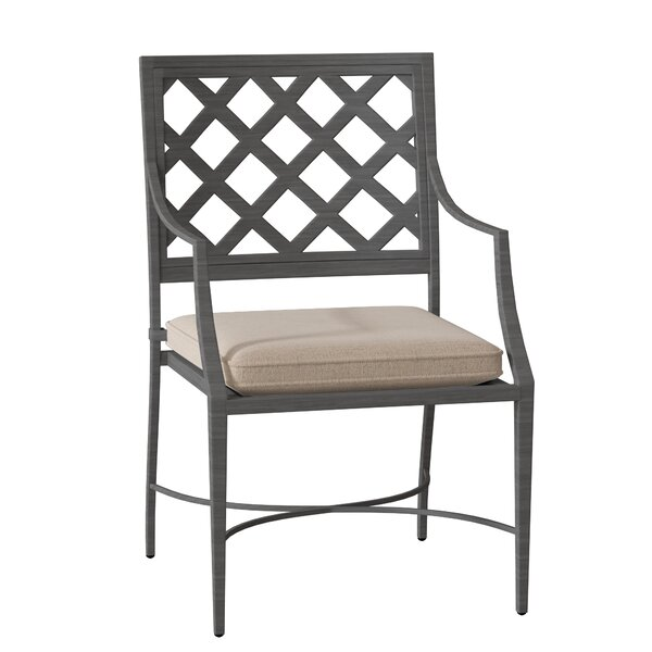 Lattice Patio Dining Chair with Cushion by Summer Classics