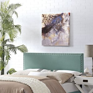 Preiss Solid Wood Upholstered Panel Headboard by Varick Gallery
