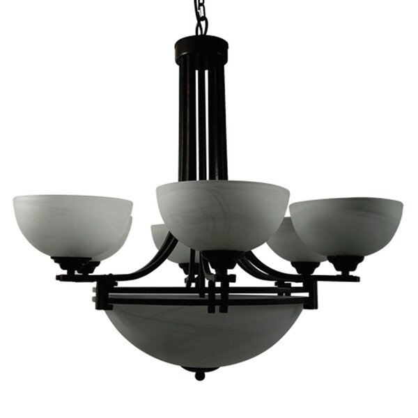 Joye 9-Light Shaded Empire Chandelier By Darby Home Co