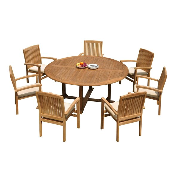Masuda 8 Piece Teak Dining Set by Rosecliff Heights