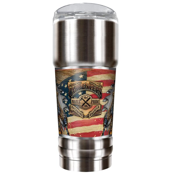 Carpenter Backbone of America 32 oz. Stainless Steel Travel Tumbler by Great American Products