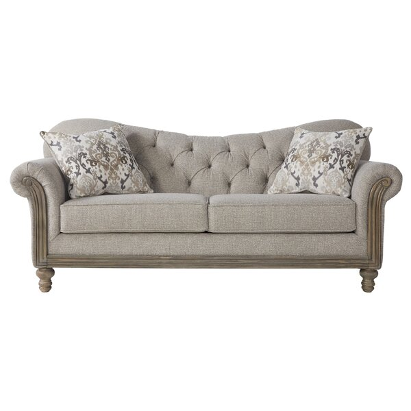 Larrick Fabric Tufted Standard Sofa by Ophelia & Co.