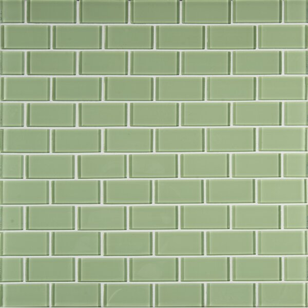 Crystallized 2'' x 4'' Glass Mosaic Tile in Mint Green by MSI