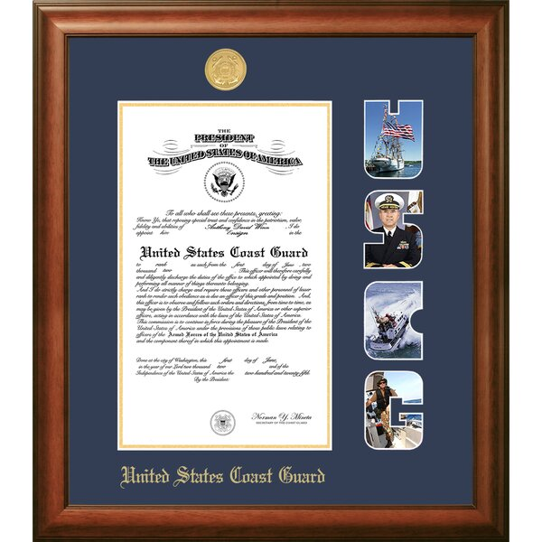 Coast Guard Certificate Picture Frame by Patriot Frames