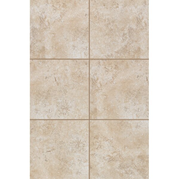 Medfordton Floor Glazed 20 x 20 Porcelain Field Tile in White Cliff by Mohawk Flooring