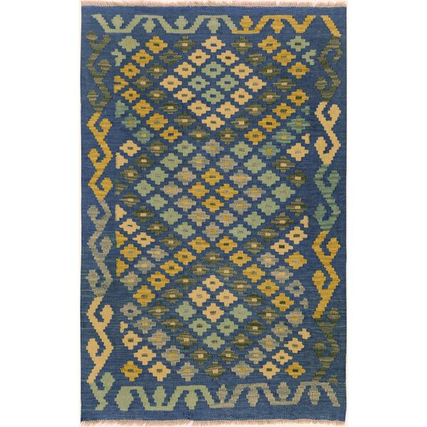 One-of-a-Kind Aalborg Hand-Woven Blue/Teal Area Rug by Isabelline