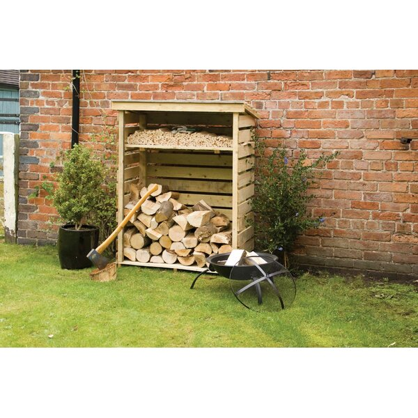 4 Ft. x 2 Ft. Wood Log Store by Rowlinson