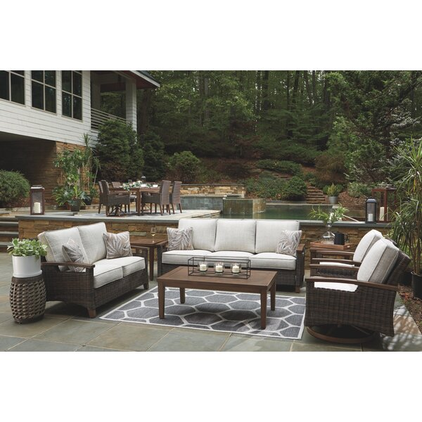 Estill Swivel Lounge Seating Group with Cushion by Highland Dunes