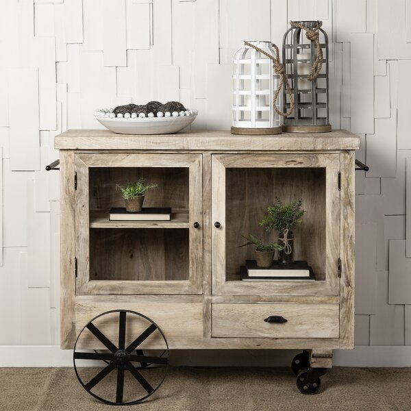 Seale Wadsworth Rolling Kitchen Cart by Gracie Oaks