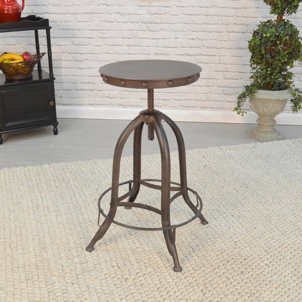 Huston Adjustable Height Bar Stool by 17 Stories