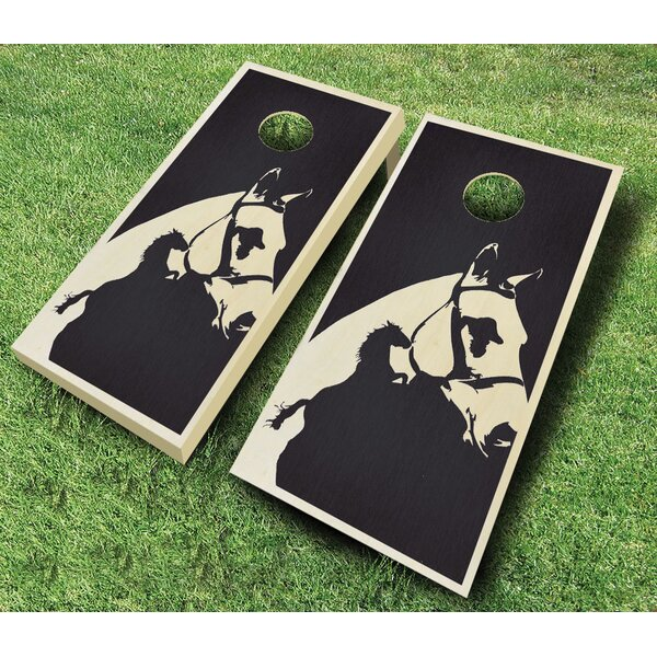 Horse 10 Piece Cornhole Set by AJJ Cornhole
