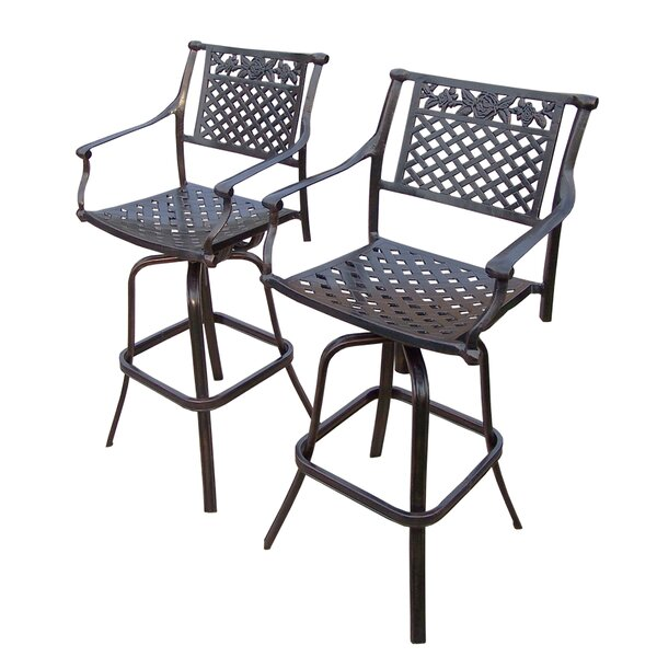 Rose Patio Bar Stool (Set of 2) by Oakland Living