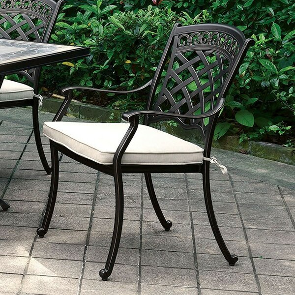 Mclea Patio Dining Chair with Cushion by Darby Home Co